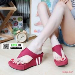 รองเท้าลำลองส้นเตารีดแบบคีบ M1822-RED [สีแดง]