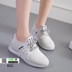รองเท้าผ้าใบนำเข้าสไตล์แบรนด์ดัง 0555-ขาว [สีขาว]