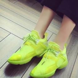 รองเท้าผ้าใบสีเขียว สินค้านำเข้า ผ้ายืดตาข่าย ผสมผ้าแก้ว นน.เบา กระชับเท้า ไม่ปั๊มโลโก้