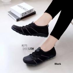 รองเท้าผ้าใบแฟชั่นสีดำ ทรงSport (สีดำ )
