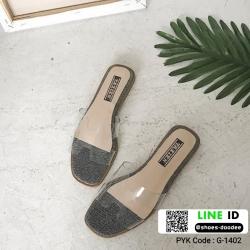 รองเท้าแตะ สไตล์Hermes ใส่ง่าย G-1402-SIL [สีเงิน]