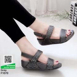 รองเท้าสุขภาพ รัดข้อ F1070-เทา [สีเทา]