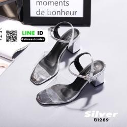 รองเท้าลำลองแบบสวม ทรง maxi G1289-SIL [สีเงิน]