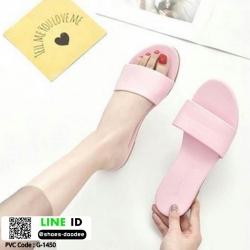 รองเท้าแตะแฟชั่นแบบคาด สวม สีพาสเทล G-1450-PNK [สีชมพู]