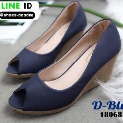 รองเท้าคัชชูส้นเตารีด 18068-BLU [สีน้ำเงิน]