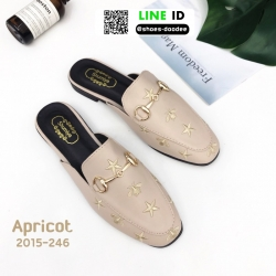 รองเท้าเปิดส้น สไตล์แบรนด์ GUCCI 2015-246-APR [สีแอปริคอท]