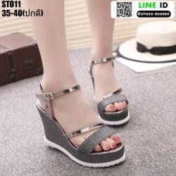 รองเท้ารัดข้อเปิดท้ายส้นเตารีด ST011-BLK [สีดำ]
