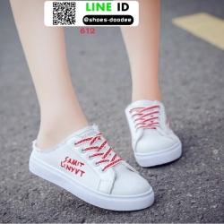 รองเท้าผ้าใบเปิดส้น แบบเชือก 612-RED [สีแดง]