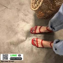 รองเท้าแตะผู้หญิงรัดส้น สไตล์เกาหลี G-1437-RED [สีแดง]