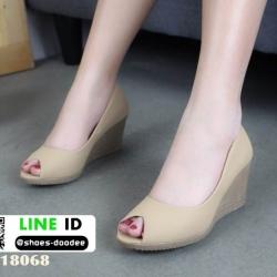 รองเท้าคัชชูส้นเตารีด 18068-CRE [สีครีม]