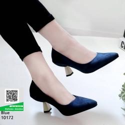 รองเท้าส้นสูงปราด้า 10172-น้ำเงิน [สีน้ำเงิน]