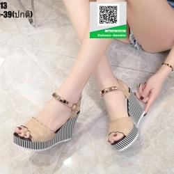รองเท้าทรงเตารีดแบบรัดข้อ ST13-CRM [สีครีม]