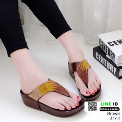 รองเท้าสุขภาพเสริมบุคลิกภาพ 317-1-น้ำตาล [สีน้ำตาล ]