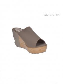 รองเท้าส้นเตารีดแบบเปิดส้น ใส่ลำลอง (สีแอปปริคอท )