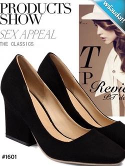 รองเท้าคัทชูผู้หญิงสีดำ ส้นเหลี่ยม ทรงสุภาพ เรียบหรู ดูดี ใส่ทำงาน แฟชั่นเกาหลี แฟชั่นพร้อมส่ง