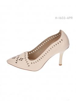 รองเท้าคัทชูส้นสูง ฉลุลาย (สีแอปปริคอท )