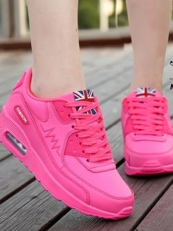 รองเท้ากีฬาสีชมพู ดีไซน์เรียบหรูดูแพงเว่อร์ (สีชมพู )