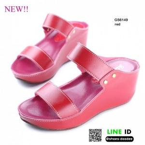 รองเท้าสไตล์ลำลองแบบสวมคาดหน้าสองตอน GS6149-RED [สีแดง]
