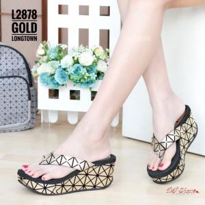 รองเท้าแตะแฟชั่นสีทอง Style BAO BAO ISSEY MIYAKE (สีทอง )