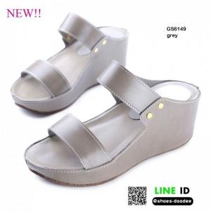 รองเท้าสไตล์ลำลองแบบสวมคาดหน้าสองตอน GS6149-GRY [สีเทา]