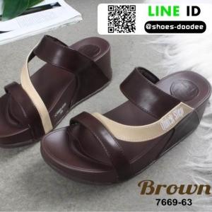 รองเท้าลำลองสุขภาพ สไตล์ Fitflop 7669-639-BWN [สีน้ำตาล]