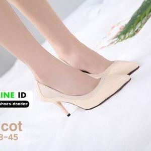 รองเท้าคัชชูส้นสูงหัวแหลม 678-45-APR [สีแอปริคอท]