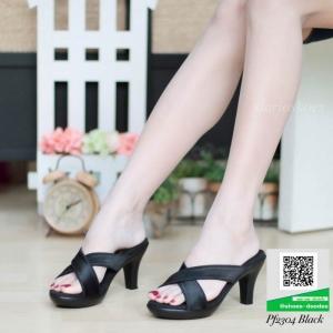 รองเท้าส้นสูงแบบสวม PF2304-BLK [สีดำ]