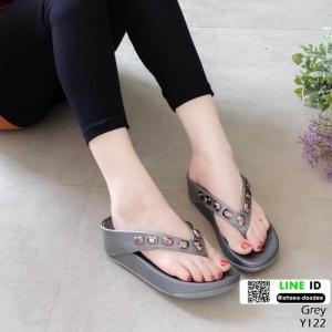 รองเท้าสุขภาพ อีกตัวที่แนะนำในความเลิศ นิ่มมาก Y122-เทา [สีเทา]