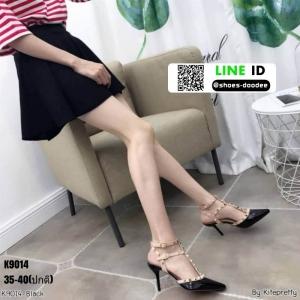 รองเท้าคัชชูส้นเข็มเปิดส้น K9014-BLK [สีดำ]