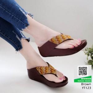 รองเท้าเพื่อสุขภาพฟิทฟลอบ YT123-น้ำตาล [สีน้ำตาล ]