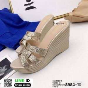 รองเท้าส้นเตารีดแบบสวม 8980-15-GLD [สีทอง]