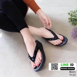 รองเท้าสุขภาพ อีกตัวที่แนะนำในความเลิศ นิ่มมาก Y122-ดำ [สีดำ]
