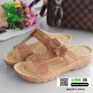 รองเท้าแตะ สไตล์วินเทจ 5943-TAN [สีแทน]