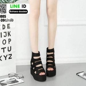 รองเท้าหุ้มส้นทรงเตารีด ST1005-BLK [สีดำ]