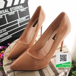 รองเท้าคัชชูส้นสูง หัวแหลม XG11-147-PINK [สีชมพู]