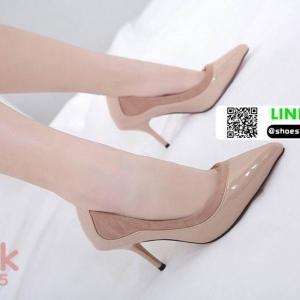 รองเท้าคัชชูส้นสูงหัวแหลม 678-45-PNK [สีชมพู]