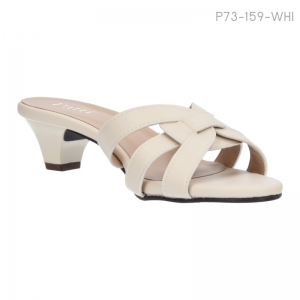 ลดล้างสต๊อก รองเท้าส้นเตี้ย P73-159-WHI [สีขาว]