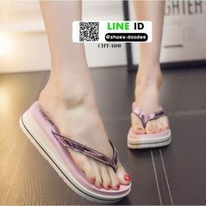 รองเท้าแตะส้นเตารีด CHT-1680-PNK [สีชมพู ]