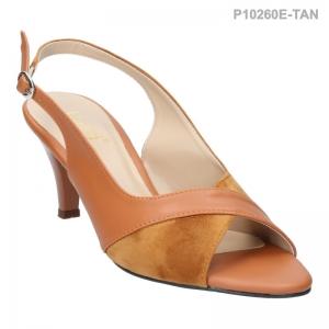 ลดล้างสต๊อก รองเท้าส้นเตี้ย P10260E-TAN [สีแทน]