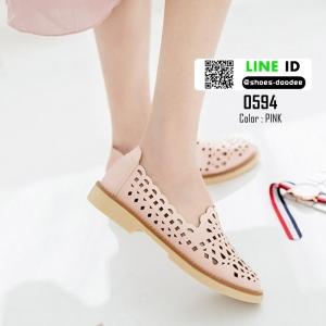 รองเท้าคัชชูฉลุลาย 0594-PINK [สีชมพู]