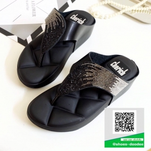 รองเท้าสุขภาพสีดำ Style fitflop ทรงสวย (สีดำ )