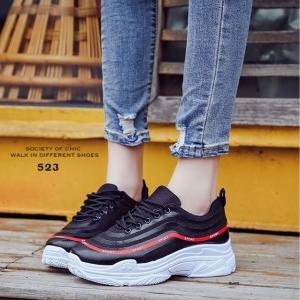 รองเท้าผ้าใบแฟชั่น 512-BLK [สีดำ]