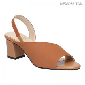 ลดล้างสต๊อก รองเท้าส้นเตี้ย NF33067-TAN [สีแทน]