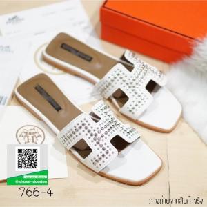 รองเท้าแตะผู้หญิงสีขาว HERMES sandal 2017 (สีขาว )