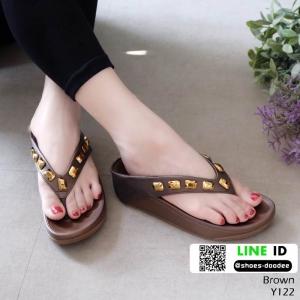 รองเท้าสุขภาพ อีกตัวที่แนะนำในความเลิศ นิ่มมาก Y122-น้ำตาล [สีน้ำตาล ]