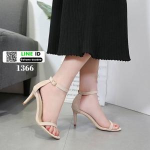 รองเท้าส้นสูง สไตล์เกาหลี ทรงเกร๋ 18-1366-CREAM [สีครีม]