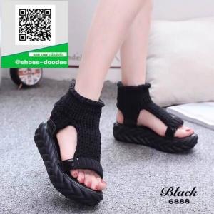 รองเท้าแตะหุ้มข้อสีดำ ใส่หน้าหนาว (สีดำ )