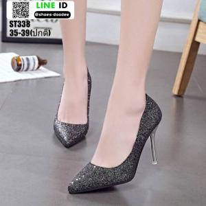 รองเท้าคัชชูส้นเข็ม ST338-BLK [สีดำ]