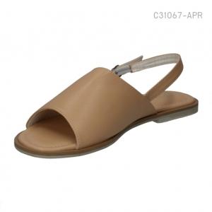 รองเท้าส้นแบนรัดส้น ทรงสวม เปิดหน้า (สีแอปปริคอท )