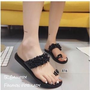รองเท้าแตะโป้ง 816-BLK [สีBLK]